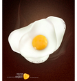 Broken egg background vector