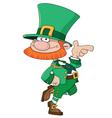 Funny leprechaun vector