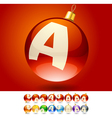 Ultimate set of alphabet font symbols on christmas vector