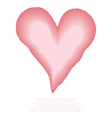 Heart watercolor pink painted vector