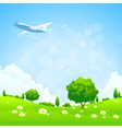 Green landscap vector