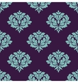 Turquoise colored floral seamless pattern vector