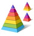 Layered pyramids vector