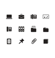 Office icons on white background vector
