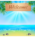 Summerl seaside view poster vector