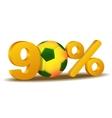 Ninety percent discount icon vector
