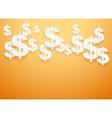 Hung symbols dollar vector