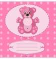 Baby girl greeting card background vector