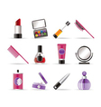 Cosmetic and make-up icons vector