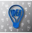Business template with blue bulb idea vector