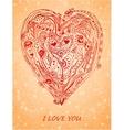 Templatedesign element paper heart for love card vector