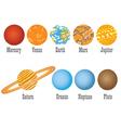 Set of nine planets vector
