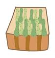 Icon cucumber vector