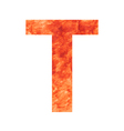 T land letter vector