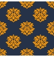 Orange colored floral seamless pattern vector