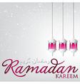 Lantern ramadan kareem generous ramadan card in vector