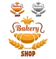 Bakery shop badge or label vector