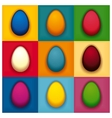 Pop art colorful eggs vector