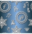 Seamless ornate winter pattern vector