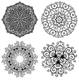 Set of 4 abstract floral symmetric laces vector