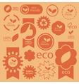 Eco signs vector