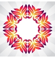 Spring frame of colorful abstract leaves vector