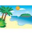 Sea beach vector
