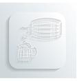 Oktoberfest beer keg icon vector