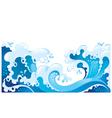 Giant ocean waves background vector