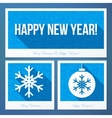 New year symbols in flat style with knitted vector