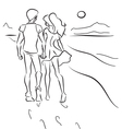 Couple on the beach vector