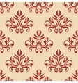 Red retro seamless pattern on beige backgrouund vector