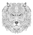 Wolf lineart vector