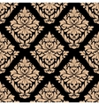 Beige colored floral seamless pattern vector
