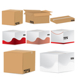 Designed card board packing boxes vector