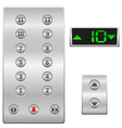 Elevator buttons panel vector