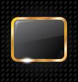 Golden rectangle frame isolated on aluminum vector
