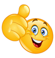 Thumb up emoticon vector