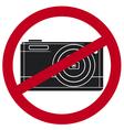 No camera symbol vector