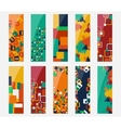 Abstract various 10 colorful header set collection vector