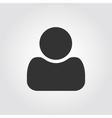 User man icon flat design vector