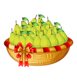 A basket of fruits vector