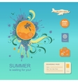 Flat design style modern concept of planning a vector