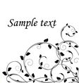Abstract floral background black and white vector