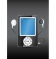 Stylish modern mp3 player with earphones vector