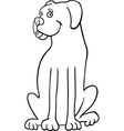 Boxer dog cartoon for coloring book vector