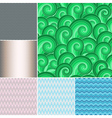 Set colorful patterns vector