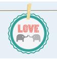Love elephants card vector