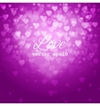 Festive blurred pink background with bokeh vector
