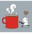 Busines man love coffee vector